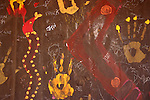Modern aboriginal artwork, Kimberley region, Western Australia