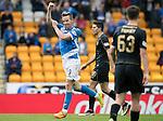 St Johnstone v Celtic&hellip;20.08.16..  McDiarmid Park  SPFL<br />Steven MacLean celebrates his goal<br />Picture by Graeme Hart.<br />Copyright Perthshire Picture Agency<br />Tel: 01738 623350  Mobile: 07990 594431
