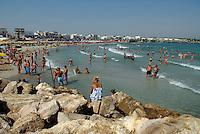 Puglia, Salento, Spiaggia di San Foca dove dovrebbe arrivare il gasdotto dall'Azerbaigian.<br /> Apulia, Salento, San Foca beach where the pipeline from Azerbaijan should arrive.