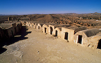 Troglodyte dwellings in the Berber village of Matmata in the south of Tunisia