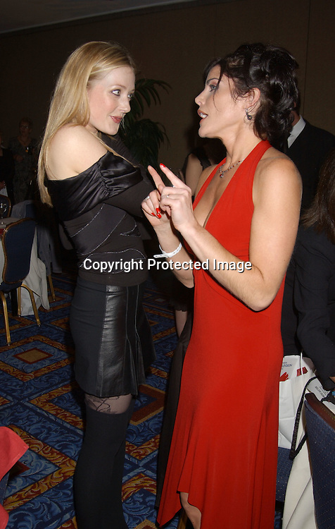 ..Jennifer Finnegan and Lesli Kay ..at the Ninth Annual Daytime Television Salutes St. Jude ..Children's Research Hospital benefit in New York City on ..October 10, 2003 at the Marriott Marquis Hotel. ..Photo by Robin Platzer, Twin Images