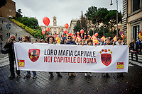 Roma 20 Novembre 2015<br /> Sciopero generale dei lavoratori del pubblico impiego, indetto dall&rsquo;Unione Sindacale di Base, contro la Legge di Stabilit&agrave;, che prevede aumenti contrattuali di 5 euro medi lordi mensili e contro il governo Renzi.<br /> Rome 20 November 2015<br /> General strike of public sector workers, called by the USB (Auditors of Base), against the Stability Law, which provides for contractual increases of 5 EUR average gross monthly and against the government Renzi.