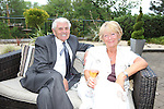 ISPS Handa Wales Open 2012.Terry M's Restaurant Opening.Garry Williams & Barbara Morse..01.06.12.©Steve Pope