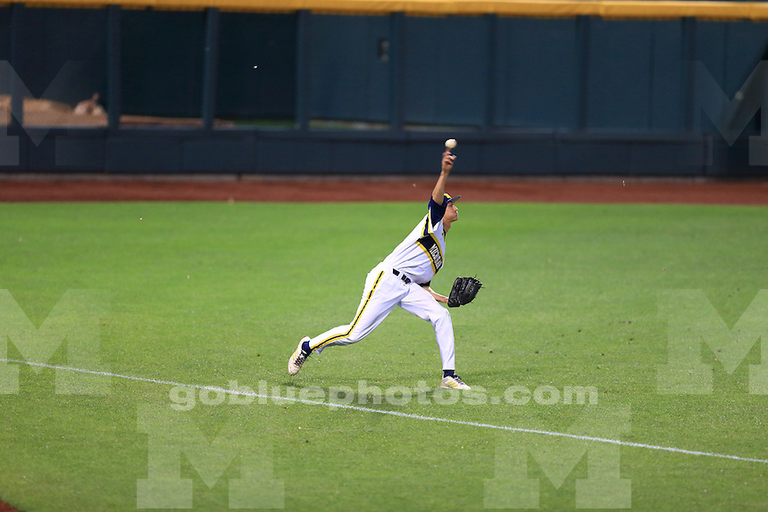 The University of Michigan baseball team was defeated by Indiana 5-0 during their second game of the 2014 Big Ten Tournament. Omaha, NE, May 22, 2014