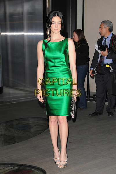 "PAZ VEGA.Prada's Private Screening of the new Animated Short Fil ""Trembled Blossoms"" held at Prafa Beverly Hills Epicenter in Beverly Hills, California, USA..March 19th, 2008.full length green silk satin sleeveless dress                                                               .CAP/DVS.©Debbie VanStory/Capital Pictures."