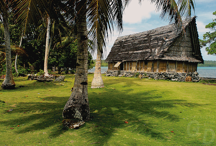 "Traditional Bai or mans meeting house on the small Island of Yap know for its Stone Money located in the South Pacific and is part of Micronesia. Time has stood still in this part of the world and the Yapese treasure even today their culture and tradition. Women walking around topless without a shame and go about their daily life. But Yap is also famous for its ""resident"" large Manta Rays and many other amazing ddive sites. Yap, Micronesia"