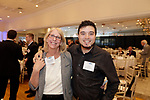 Southington, CT- 03 May 2017-050317CM12-  Social moments from left, Donna Kologe and Omar Ghannam with MacDermid Inc. are photographed during a United Way of Greater Waterbury celebration at the Aqua Turf on Wednesday.         Christopher Massa Republican-American