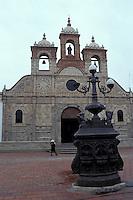 Spanish colonial Santa Barbara Cathedral in Riobabmba, Ecuador