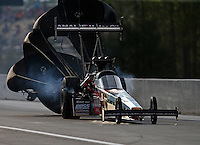 Mar 19, 2016; Gainesville, FL, USA; NHRA top fuel driver Terry McMillen during qualifying for the Gatornationals at Auto Plus Raceway at Gainesville. Mandatory Credit: Mark J. Rebilas-USA TODAY Sports