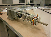 BNPS.co.uk (01202 558833).Pic: UniversityOfSurrey/BNPS..***Please use full byline***..Space dustman.....The mechanism for deploying the enormous sail is tested at the University of Surrey...The University of Surrey is developing a cunning new satellite that should help clean up the thousands of items of space junk now orbiting the earth...The satellites use an enormous sail to manouvere through space and attach themselves to orbiting junk. The  conjoined items then fall into the atmosphere and burn up...Scientists at the University of Surrey have been working on the project, funded by the European space company Astrium, for the last three years...It is hoped the first satellite could be launched by the end of the year..