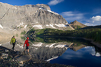 Kootenay National Park, British Columbia, Canada, July 2008. Sunrise at Floe Lake is the highlight of the Trail. The Rockwall trail offers an exhilarating multiple day hike in the Rocky Mountains. Photo by Frits Meyst/Adventure4ever.com
