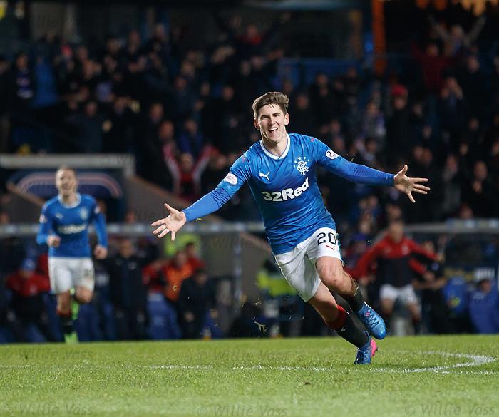 Emerson Hyndman scores the winning goal for Rangers
