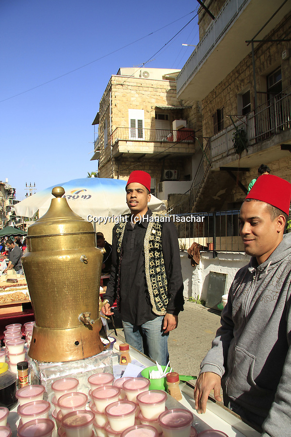 Israel, Haifa, the Three Holidays festival in Wadi Nisnas