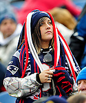 20 December 2009: A New England Patriots fan looks up at the scoreboard during a game against the Buffalo Bills at Ralph Wilson Stadium in Orchard Park, New York. The Patriots defeated the Bills 17-10. Mandatory Credit: Ed Wolfstein Photo