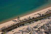 """Tahoe Shoreline Aerial 1"" - Photograph of the shoreline at Lake Tahoe, shot from an amphibious seaplane with the door removed."