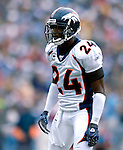 9 September 2007: Denver Broncos cornerback Champ Bailey (24) in action against the Buffalo Bills at Ralph Wilson Stadium in Buffalo, NY. The Broncos defeated the Bills 15-14 in the opening day matchup...Mandatory Photo Credit: Ed Wolfstein Photo