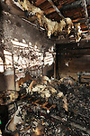 a by fire gutted bedroom