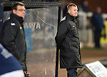 Dundee v St Johnstone.....27.02.13      SPL.Steve Lomas and Tommy Wright watch the game.Picture by Graeme Hart..Copyright Perthshire Picture Agency.Tel: 01738 623350  Mobile: 07990 594431