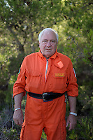 Isola di Pianosa.Pianosa Island.Roberto Giannerini, volontario del servizio antincendio boschivo dell' associazione La Racchetta.Volunteer fire fighting service of  The Racket Association..