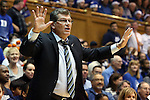 17 December 2013: UConn head coach Geno Auriemma. The Duke University Blue Devils played the University of Connecticut Huskies at Cameron Indoor Stadium in Durham, North Carolina in a 2013-14 NCAA Division I Women's Basketball game. UConn won the game 83-61.