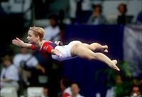 July 26, 1998; New York, NY, USA; Artistic gymnast Svetlana Khorkina of Russia performs floor exercise at 1998 Goodwill Games New York. Copyright 1998 Tom Theobald