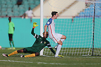 St. Vincent and the Grenadines - September 2, 2016: The U.S. Men's National team take a 5-0 lead over St. Vincent and the Grenadines with Sacha Kljestan contributing a goal from a Christian Pulisic assist in a World Cup Qualifier (WCQ) match at Arnos Vale Stadium.