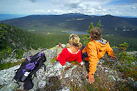 Wells Gray Provincial Park, British Columbia, Canada, August 2006. Trekking the backcountry of Wells Gray requires expert outdoor skills or a good guide, as one will enter a wilderness area with mountains, lakes and forests. Photo by Frits Meyst/Adventure4ever.com
