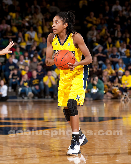 University of Michigan women's basketball 63-56 loss to to Michigan State at Crisler Arena in Ann Arbor, MI, on January 9, 2011.