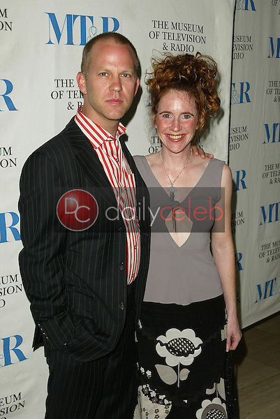 Ryan Murphy and Greer Shephard<br />at &quot;Miami Black and Blue: A Look at Nip/Tuck&quot;. Museum of Television and Radio, Los Angeles, CA. 09-19-05<br />Jason Kirk/DailyCeleb.com 818-249-4998