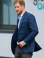HAYES, UNITED KINGDOM - APRIL 20: Prince Harry attends the official opening of The Global Academy in support of Heads Together on April 20, 2017 in Hayes, England. <br /> CAP/JOR<br /> &copy;JOR/Capital Pictures