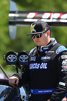 May 14, 2016; Commerce, GA, USA; NHRA top fuel driver Richie Crampton during qualifying for the Southern Nationals at Atlanta Dragway. Mandatory Credit: Mark J. Rebilas-USA TODAY Sports