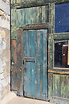 Eastern Iowa, Oxford, Faded paint, locked door, abandoned buildings, Depression style architecture