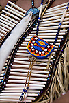 Closeup of Pow Wow Regalia. Native American Ethnic Pride, heritage and celebration at Pow Wow