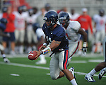 Ole Miss quarterback Barry Brunetti scrimmages at Vaught-Hemingway Stadium in Oxford, Miss. on Saturday, August 13, 2011.