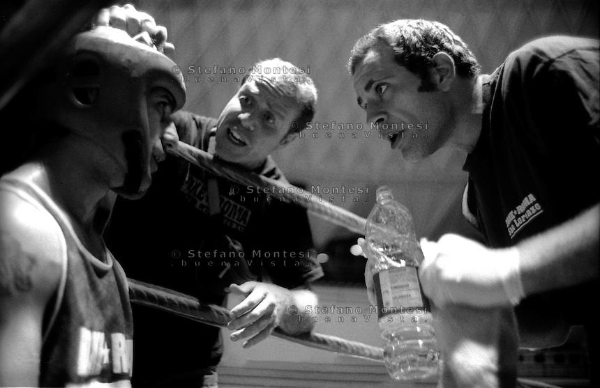 Roma .Il Maestro Paolo Arioti e Claudio Serafini  della Boxe Roma San Lorenzo