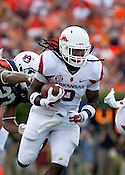 HAWGS ILLUSTRATED JASON IVESTER --08/30/2014--<br /> Arkansas sophomore running back Alex Collins carries the ball on Saturday, Aug. 30, 2014, against Auburn at Jordan-Hare Stadium in Auburn, Ala.