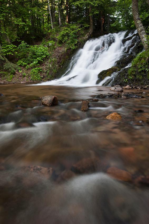Morgan Falls a waterfall near Marquette Michigan on Michigan's Upper Peninsula.