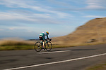 Cyclist on the Banks Peninsula, Christchurch, New Zealand