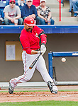 7 March 2015: Washington Nationals infielder Danny Espinosa in Spring Training action against the St. Louis Cardinals at Space Coast Stadium in Viera, Florida. The Nationals rallied to defeat the Cardinals 6-5 in Grapefruit League play. Mandatory Credit: Ed Wolfstein Photo *** RAW (NEF) Image File Available ***