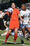 7 November 2007: Clemson's Amber Funk (7) plays the ball away from North Carolina's Nikki Washington (26). The University of North Carolina defeated Clemson University 3-0 at the Disney Wide World of Sports complex in Orlando, FL in an Atlantic Coast Conference tournament quarterfinal match.