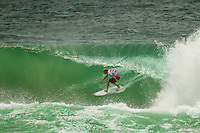 KIRRA, Queensland/Australia (Wednesday, March 13, 2013) Mick Fanning (AUS). - Kelly Slater (USA), 41, 11-time ASP World Champion and 2012 ASP World Runner-Up, has claimed the 2013 Quiksilver Pro Gold Coast in firing three-to-five foot (1 - 1.5 metre) barrels at Kirra over reigning ASP World Champion Joel Parkinson (AUS), 31, in front of a capacity crowd on the Gold Coast..The opening stop on the 2013 ASP World Championship Tour (WCT), the Quiksilver Gold Coast culminated in fine fashion today with a tube-riding shootout between two of the sport's greatest champions..Slater and Parkinson opened their 40-minute Final bout with a rapid-fire exchange of tube-riding displays, vaulting the lead back and forth before Slater nailed a 9.93 for an incredibly-deep barrel punctuated by a full-velocity forehand gaff..Today win marks Slater's 52nd elite tour victory of his career, but the iconic Floridian admits that it's a long season ahead in terms of the hunt for the 2013 ASP World Title...Parkinson looked unbeatable on the final day of the event, collecting a Perfect 10 in his morning Semifinal before posting an excellent 17.47 in his Final against Slater. However, the impressive scoreline would prove insufficient against the American's onslaught and the reigning ASP World Champion would post a Runner-Up finish in the opening event of the year..Mick Fanning (AUS), 31, two-time ASP World Champion (2007, 2009), went down in a barrel shootout this morning with Slater. Despite opening up with an impressive scoreline and an early lead, the Kirra local would ultimately fall to Slater in the dying moments of the heat - 18.60 to 19.37..Fanning collects an Equal 3rd place finish in the opening event of the season..Michel Bourez (PYF), 27, opened up this morning's action with a Semifinal bout against Parkinson. Despite being universally-celebrated as one of the most powerful surfers throughout the event, the Tahitian found himself at odds this morning after the Australian's quick start