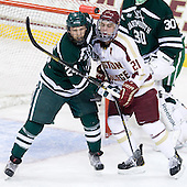 Andy Simpson (Dartmouth - 24), Steven Whitney (BC - 21) - The Boston College Eagles defeated the visiting Dartmouth College Big Green 6-3 (EN) on Saturday, November 24, 2012, at Kelley Rink in Conte Forum in Chestnut Hill, Massachusetts.