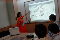 Pooja during a team meeting at Wipro Bangalore office. She is a project manager at Wipro softwares in Bangalore. Wipro is the second largest software company in the country and the head office is in Bangalore, Karnataka, India. Arindam Mukherjee