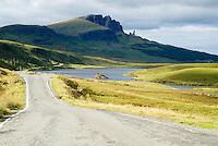 Road leading to Old Man of Storr, Isle of Skye