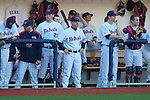 Ole Miss coach Mike Bianco vs. Arkansas State in baseball action at Oxford-University Stadium in Oxford, Miss. on Tuesday, February 21, 2012. Ole Miss won the home opener 8-1 to improve to 2-1 on the season. Arkansas State dropped to 0-3.
