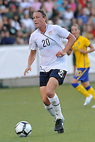Abby Wambach...USWNT tied Sweden 1-1 at Morrison Stadium, Omaha Nebraska.