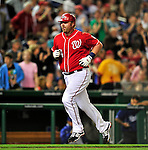 23 April 2010: Washington Nationals' first baseman Adam Dunn rounds the bases after hitting his second home run of the game against the Los Angeles Dodgers at Nationals Park in Washington, DC. The Nationals defeated the Dodgers 5-1 in the first game of their 3-game series. Mandatory Credit: Ed Wolfstein Photo