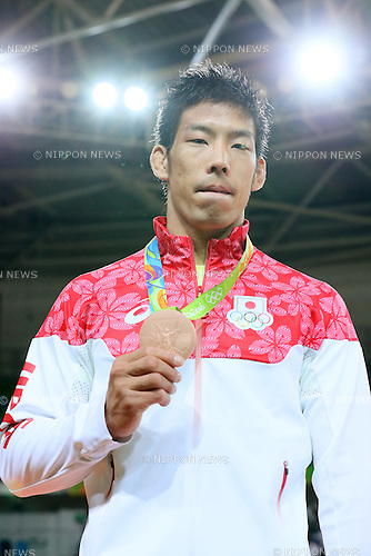 Takanori Nagase (JPN), <br /> AUGUST 9, 2016 - Judo : <br /> Men's -81kg Medal Ceremony <br /> at Carioca Arena 2 <br /> during the Rio 2016 Olympic Games in Rio de Janeiro, Brazil. <br /> (Photo by YUTAKA/AFLO SPORT)
