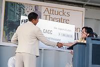 2001 August 28..Rehabilitation..Attucks Theatre.Church Street..RENOVATION GROUNDBREAKING CEREMONY...NEG#.NRHA#..