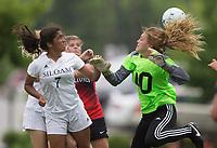 NWA Democrat-Gazette/JASON IVESTER<br /> 6A GIRLS SOCCER: Siloam Springs vs Russellville on Friday, May 19, 2017, at Razorback Field in Fayetteville